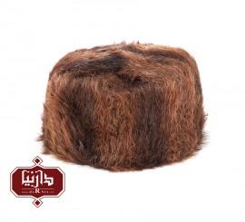 کلاه پوست طبیعی سمور رنگ قهوه ای روشن