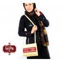 کیف گلیم دستبافت طرح سنتی رنگ کرم