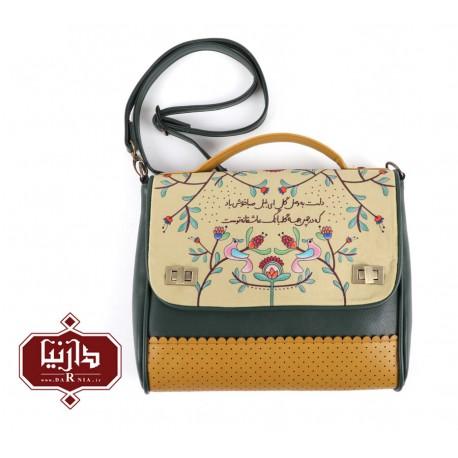 کیف دوشی دو قفل برند فرفره رنگی