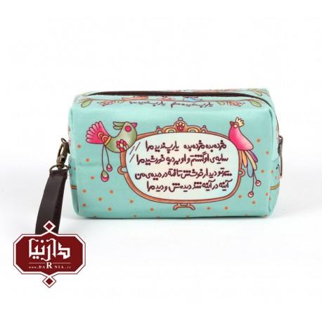 کیف آرایش مخمل برند فرفره رنگی