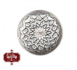 بشقاب مسي قلمزنی شده قطر 16 سانتي متر اثر پورحیدر