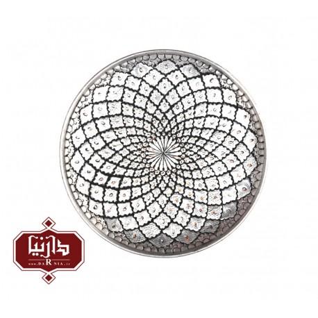 بشقاب مسي قلمزنی شده قطر 30 سانتي متر اثر پورحیدر