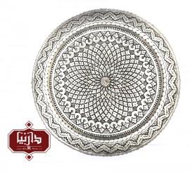 سینی مسي قلمزنی شده قطر 50 سانتي متر اثر پورحیدر