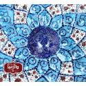 بشقاب مسي میناکاری شده اثر پورحیدر طرح 3 قطر 25 سانتیمتر