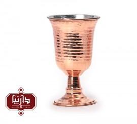 لیوان پایه دار مسي زنجان اثر محمدی طرح 2
