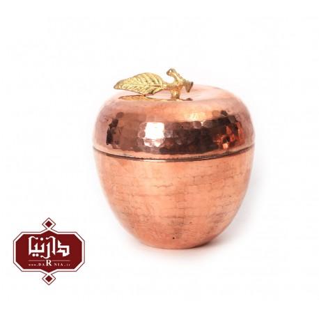 قندان مسي زنجان اثر محمدی طرح سیب