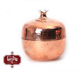 قندان مسي زنجان اثر محمدی طرح انار