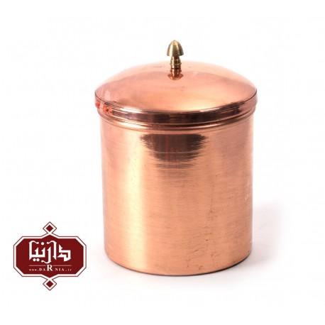 ظرف دردار مسي زنجان اثر محمدی سایز بزرگ