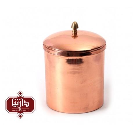 ظرف دردار مسي زنجان اثر محمدی سایز متوسط