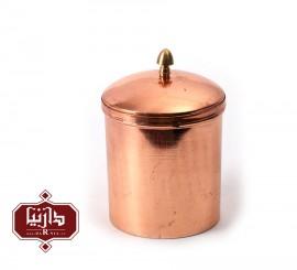 ظرف دردار مسي زنجان اثر محمدی سایز کوچک