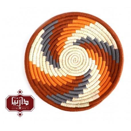 بشقاب دیوارکوب کپوبافی طرح هنری 1