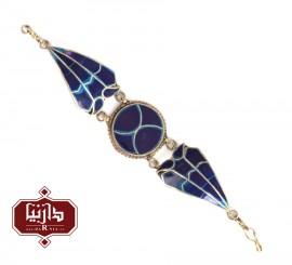 دستبند سنتی نگین آبی