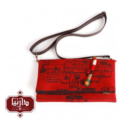 کیف دوشی تاشو برند فرفره رنگی