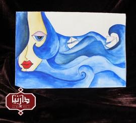 کارت پستال دختر دریا