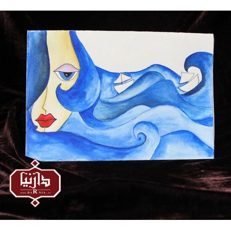 کارت پستال دختر دریا-داخل
