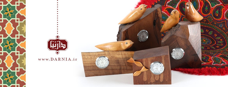 ساعت چوبی صنایع دستی