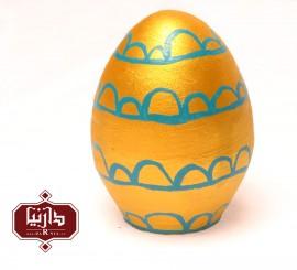 تخم مرغ سفالی رنگی طلایی