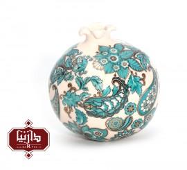 انار سرامیکی گالری فرجام طرح سنتی سبز رنگ