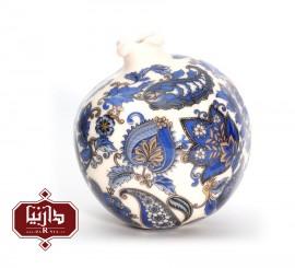 انار سرامیکی گالری فرجام طرح سنتی آبی رنگ