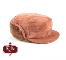 کلاه چرم جیر طبیعی رنگ صورتی