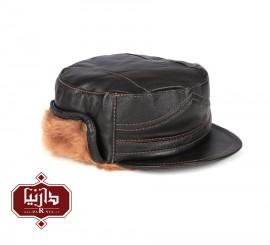 کلاه چرم طبیعی رنگ قهوه ای