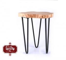 میز سه پایه چوب طبیعی